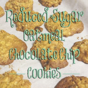 reduced sugar oatmeal chocolate cookies title