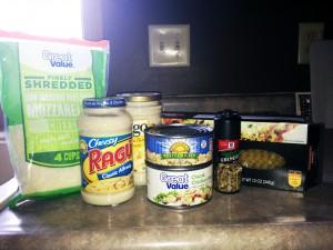 Alfredo Lasagna ingredients
