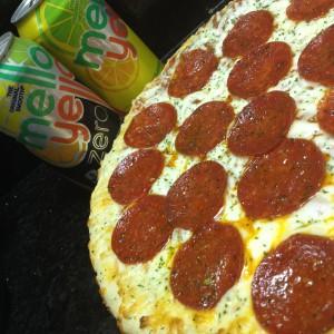 Pizza and Mello Yello