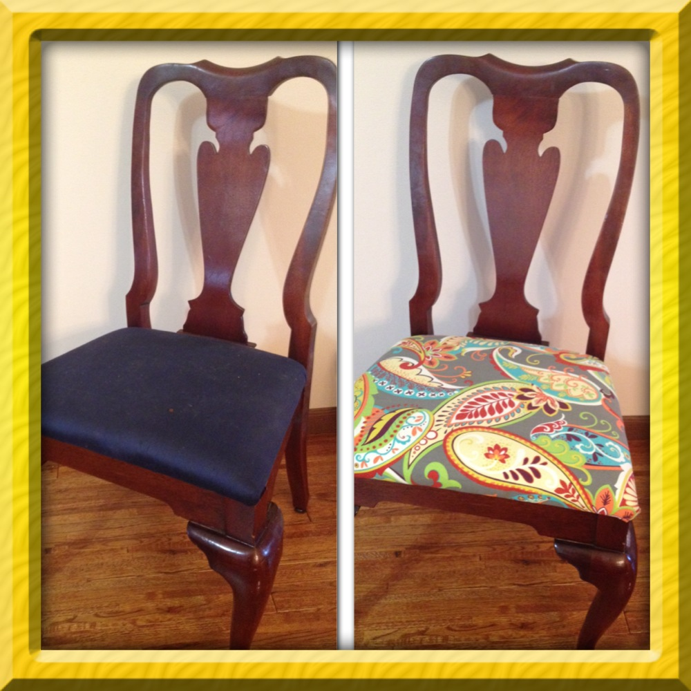 how to reupholster a dining room chair with piping | How to Reupholster Dining Room Chairs - Intentional Living ...