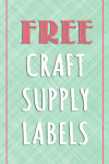 free craft supply labels